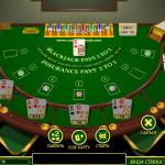 Playing blackjack at the casino Oreanda