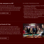 Page for VIP visitors