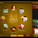 Personal account at Mega Casino