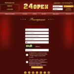 Registration Form on 24open Casino