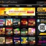 Drive Casino Homepage