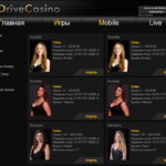 Live casino games in Drive Casino
