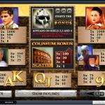 Gladiator Slot info page