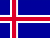 The flag of the country where speak in Icelandic