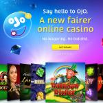 PlayOJO Casino homepage