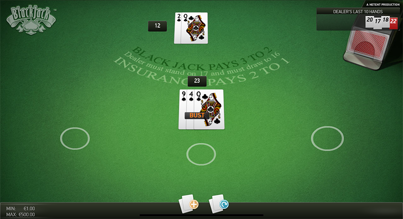 Blackjack croupier rules