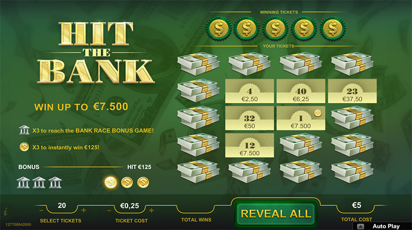Design of the game - Hit the Bank