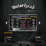 Motorhead slot introductory page