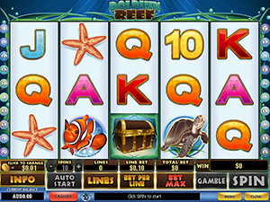 The interface of the slot machines