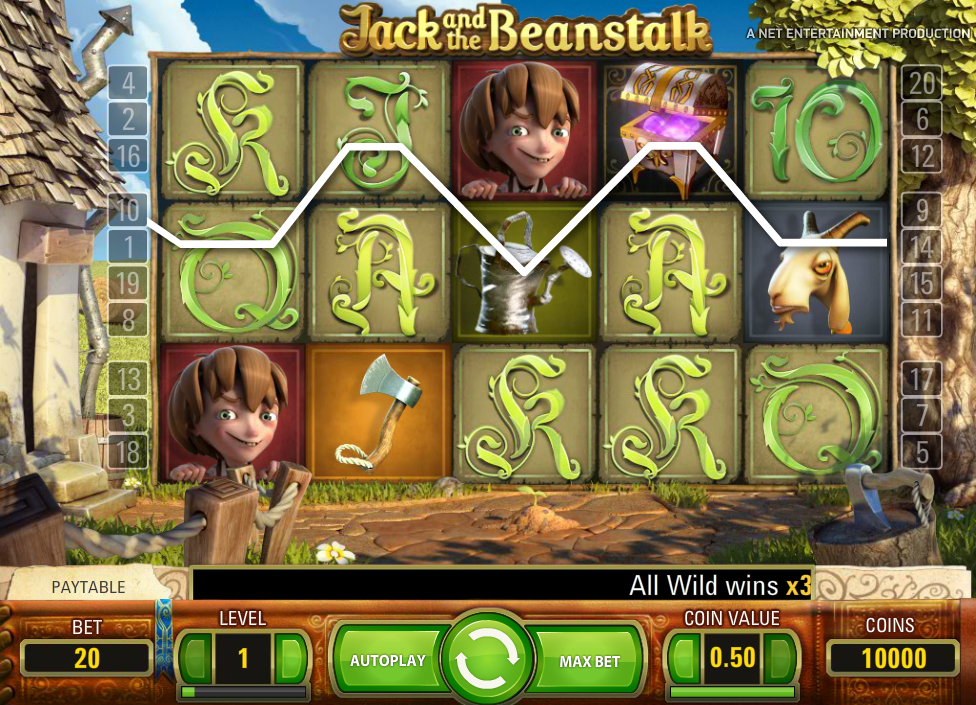 Jack and the beanstalk interface