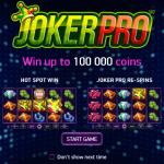 Joker Pro Slot introductory page