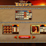 Lady of Egypt slot introductory page