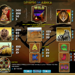 Legends of Africa Slot info page