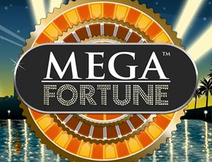 Mega Fortune slot logotip