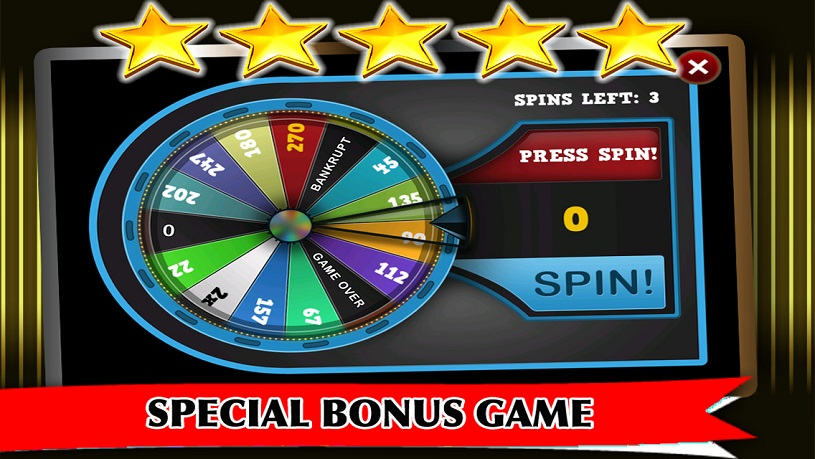 Special games in slot machines