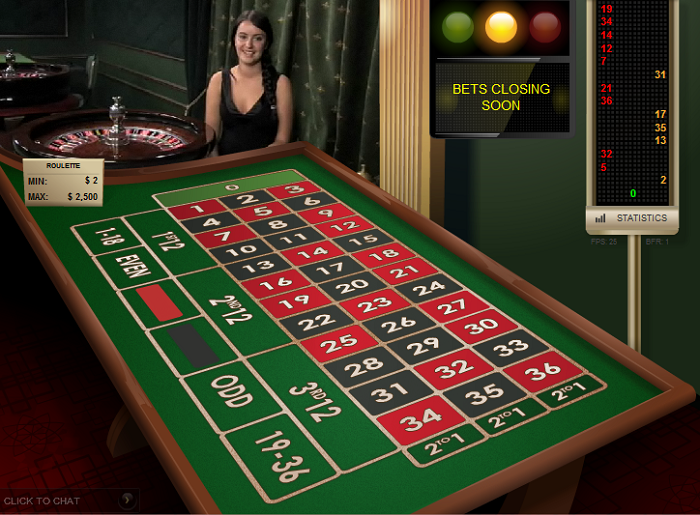 online casino live roulette