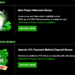 On this site there are 3 types of bonuses