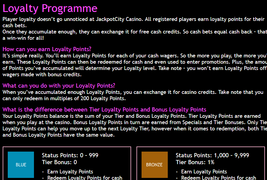 jackpot city casino ratings