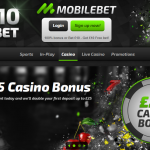 MobileBet online casino main page