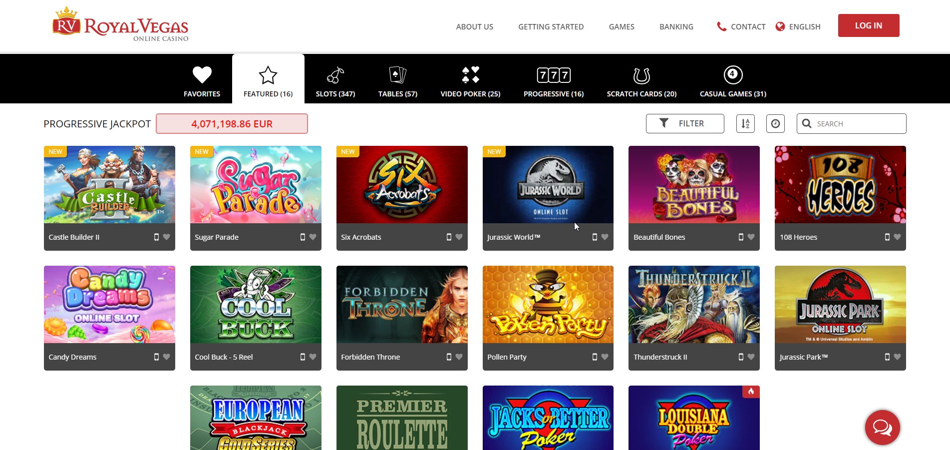 royal vegas casino online games