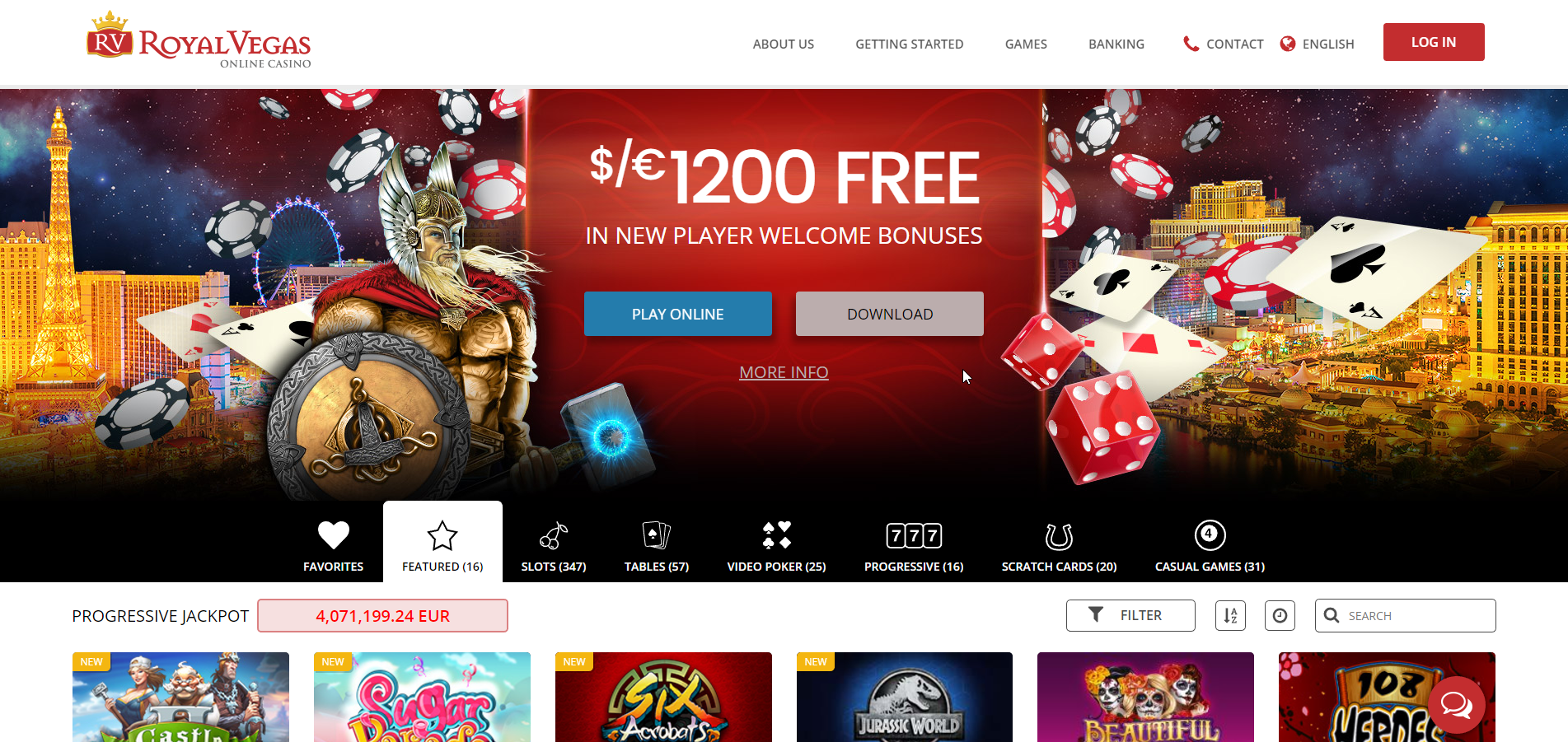 Vegas Casino Online Online Review With Promotions & Bonuses